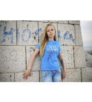 T-shirt Homo Delphinus Lady - Light Blue