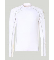 Slam Anti UV Lycra Top LS - White