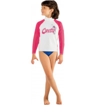 Cressi Rash Guard Long Junior Pink Seahorse
